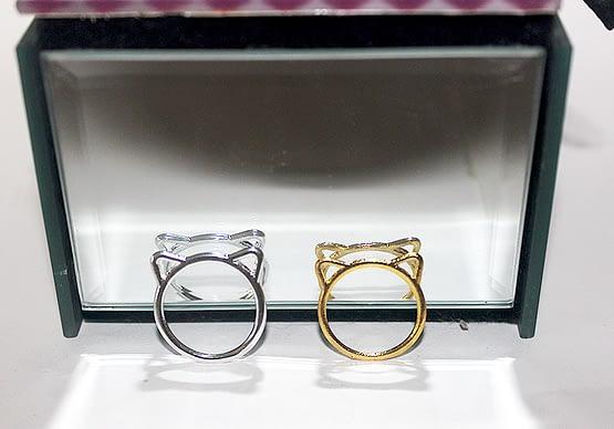 cicás gyűrű, macskás ajándék