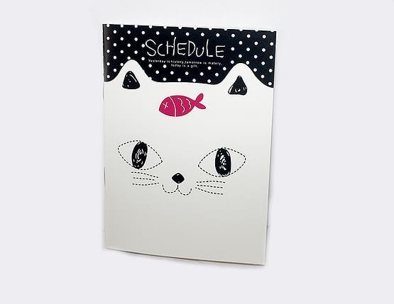 macskás jegyzetfüzetek, cicás ajándék
