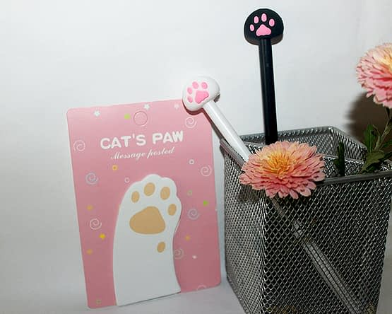 tappancsos cicás jegyzettömb, macskás ajándék