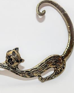 macskás ajándékok, cicás fülbevalók ékszerek
