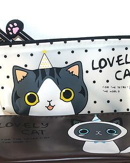 macskás tolltartó, cicás ajándékok