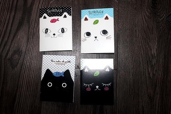 cicás notesz, macskás ajándék