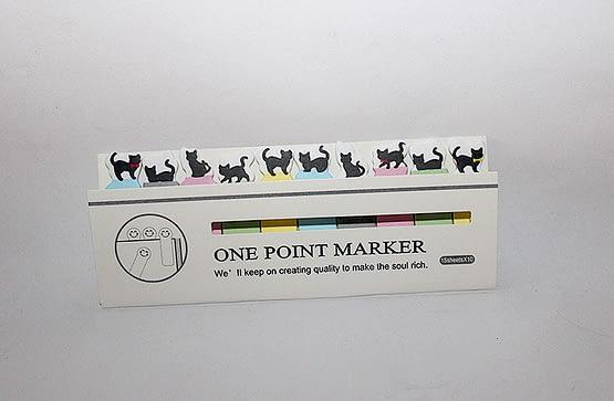 színes macskás könyvjelző, cicás ajándék