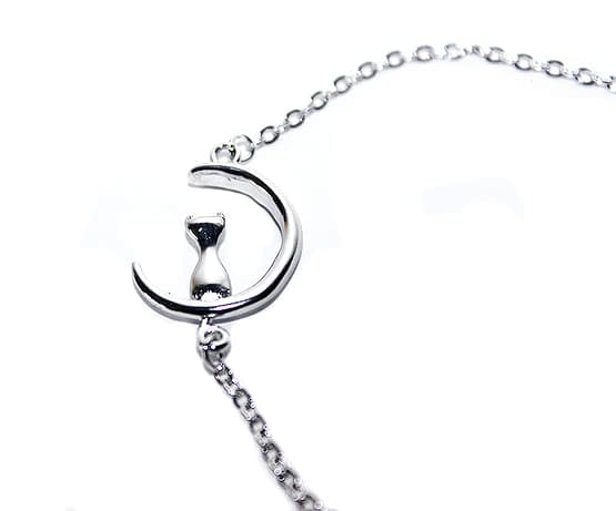 holdas macskás karkötő, cicás ajándék