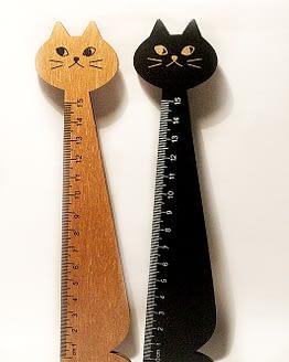 macskás vonalzó, cicás ajándék