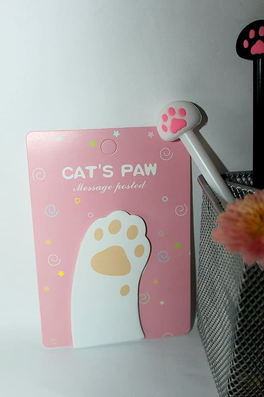 macskás jegyzettömb, cicás ajándék