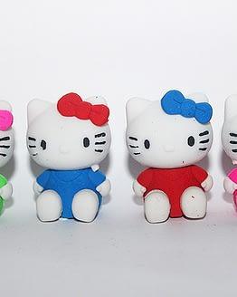 többszínű macskás radír, cicás ajándékok