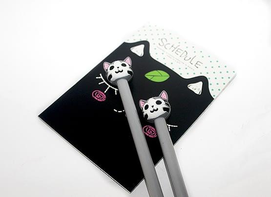 mosolygós macskás toll, cicás ajándék