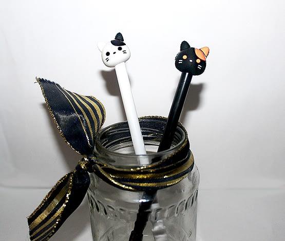 cicás ajándék, macskás toll